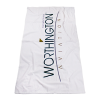 Standard Weight American Made White Beach Towel Thumb