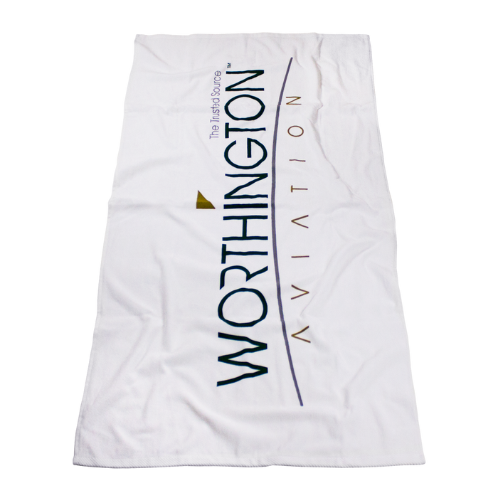 Standard Weight American Made White Beach Towel