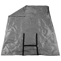 Gray Portable Picnic Fleece Blanket Thumb