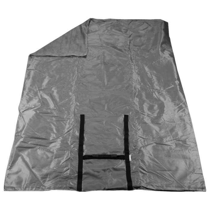 Gray Portable Picnic Fleece Blanket
