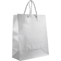 White Small Glossy Shopper Bag Thumb
