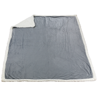 Silver Grey Denali Standard Throw Blanket Thumb