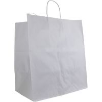 White Extra Large White Paper Shopper Bag Thumb