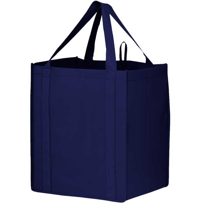 Navy Blue Big Storm Grocery Bag