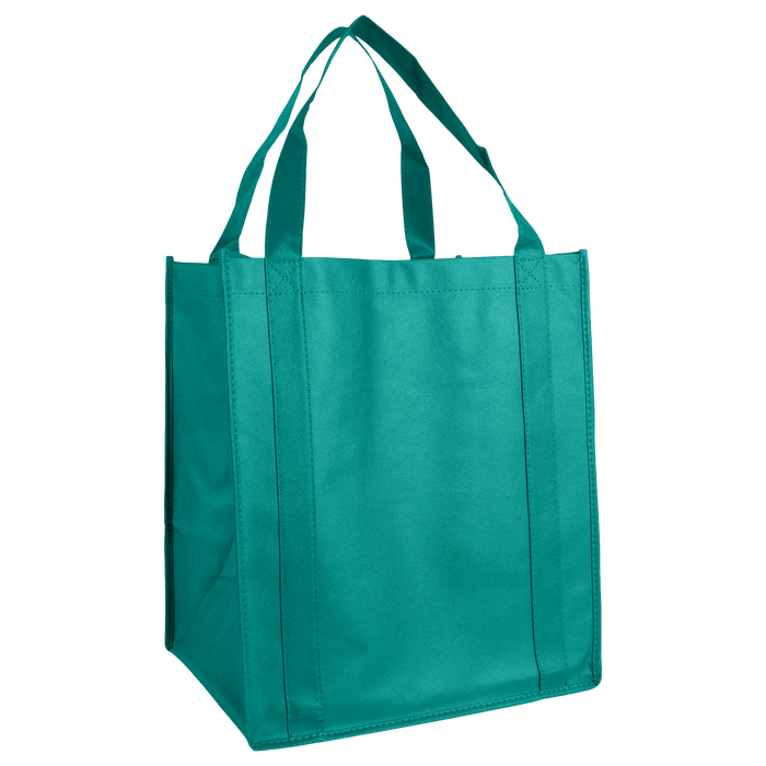 Teal Wine & Dine Reusable Tote Bag