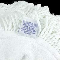 Fringed White Round Beach Towel Thumb