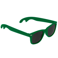 Kelly Green Panama Bottle Opener Sunglasses Thumb