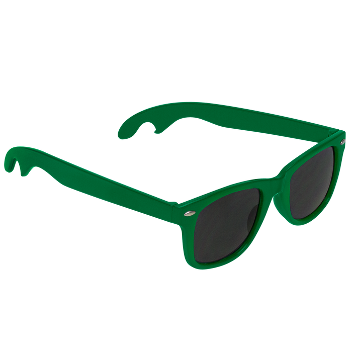 Kelly Green Panama Bottle Opener Sunglasses