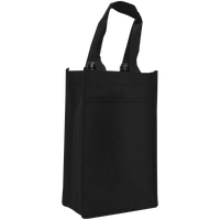 Black 2 Bottle Wine Tote Thumb