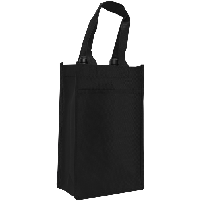 Black 2 Bottle Wine Tote