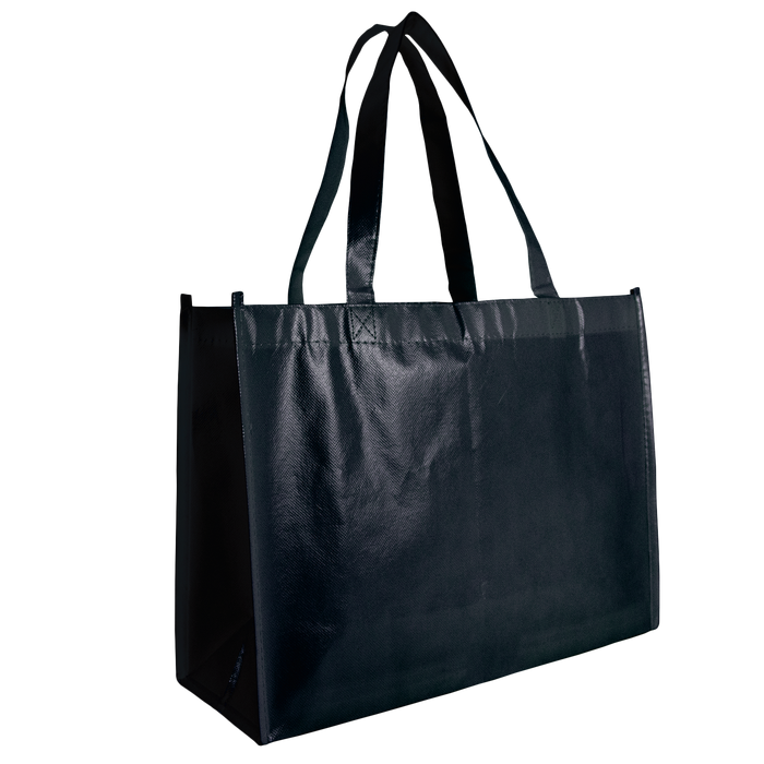 Black Laminated Convention Tote