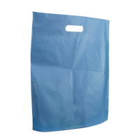 Blue Large Frosted Die Cut Bag Thumb
