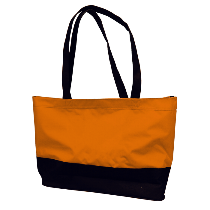 Orange Promenade Beach Bag
