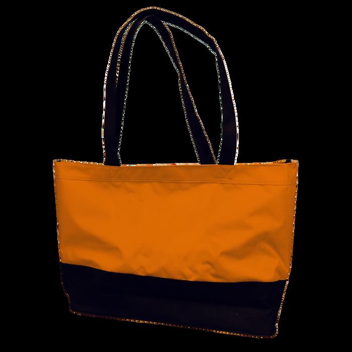 Orange Promenade Beach Bag