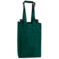 Hunter Green 4 Bottle Wine Tote Thumb