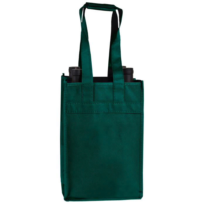 Hunter Green 4 Bottle Wine Tote