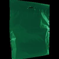 Hunter Green Large Eco-Friendly Die Cut Plastic Bag Thumb