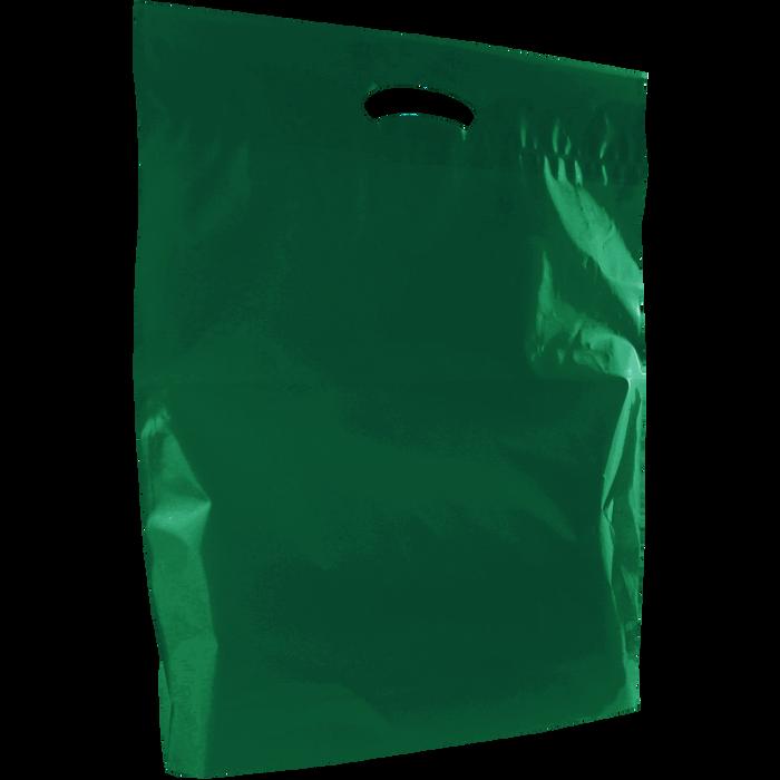 Hunter Green Large Eco-Friendly Die Cut Plastic Bag