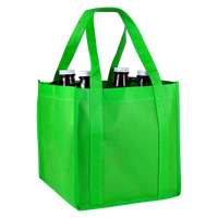 Lime Green 4 Bottle Growler Tote Thumb