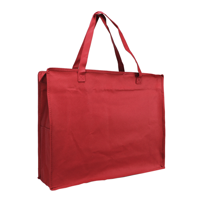 Red Zip-Up Convention Tote Plus