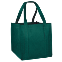 Hunter Green Cube Grocery Tote Thumb