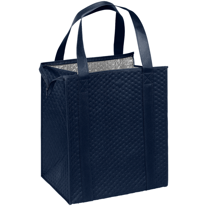 Navy Blue Large Insulated Cooler Tote