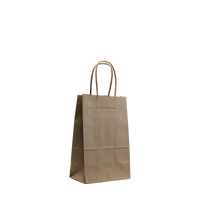 Natural Mini Kraft Paper Shopper Bag Thumb