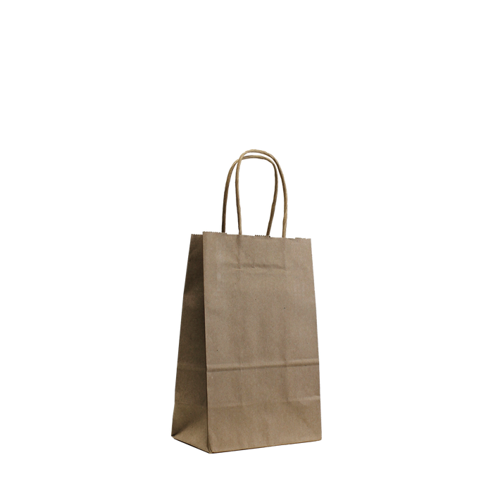 Natural Mini Kraft Paper Shopper Bag