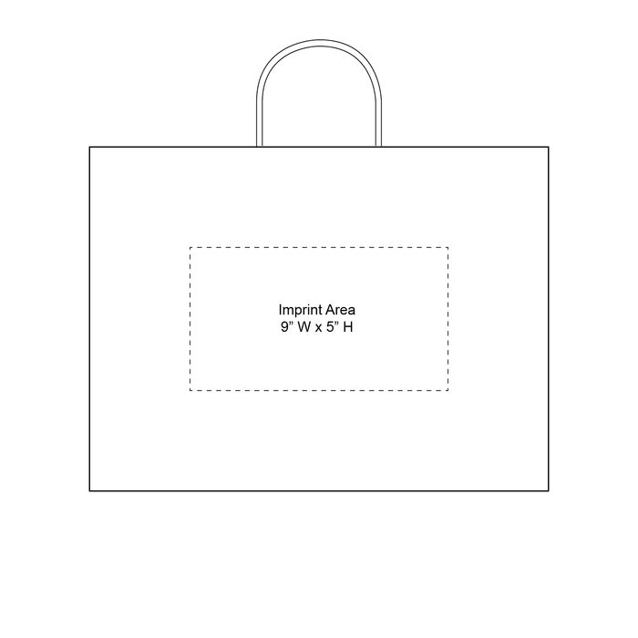 Large Kraft Paper Shopper Bag