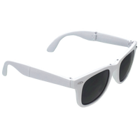 White Reno Folding Sunglasses Thumb