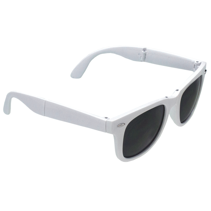 White Reno Folding Sunglasses