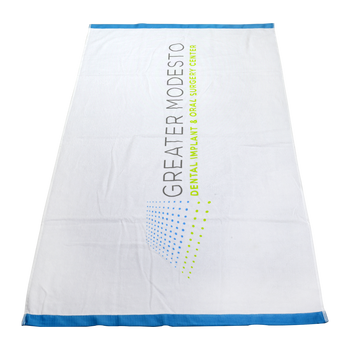 Heavyweight Colored Edge Beach Towel
