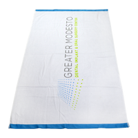 Heavyweight Colored Edge Beach Towel Thumb