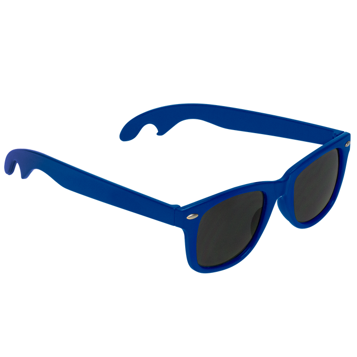 Royal Blue Panama Bottle Opener Sunglasses