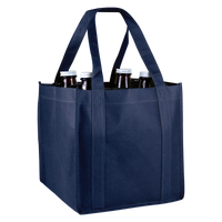 Navy Blue 4 Bottle Growler Tote Thumb