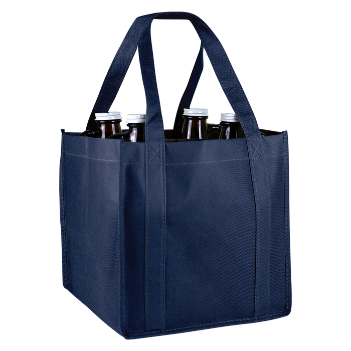 Navy Blue 4 Bottle Growler Tote