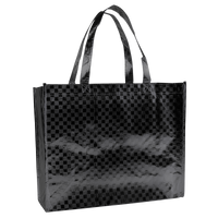Metallic Black Metallic Designer Laminated Tote Thumb