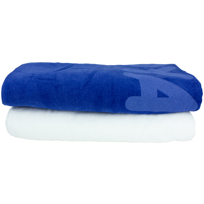 Built-In Pocket White Beach Towel