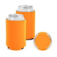 Orange Premium Collapsible Neoprene Koozie Thumb