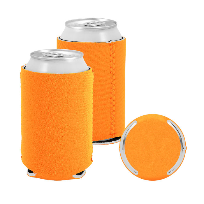 Orange Premium Collapsible Neoprene Koozie