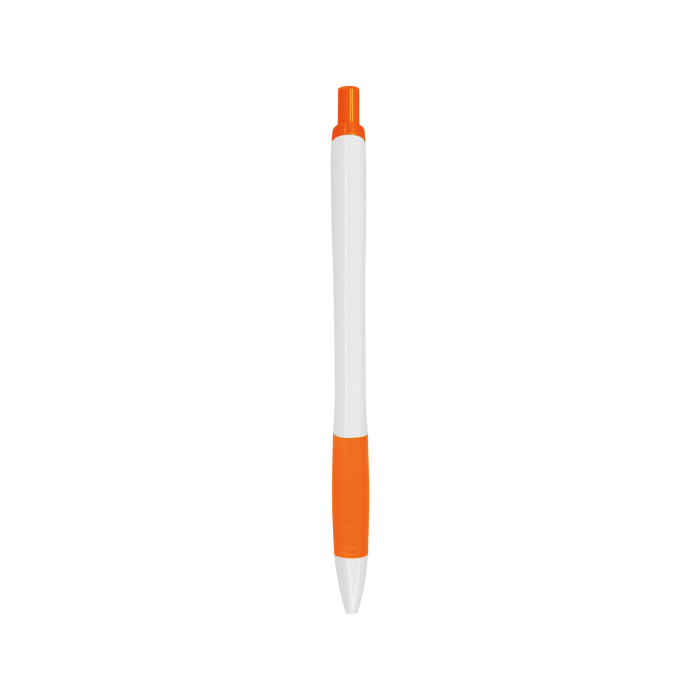 Orange with Black Ink Soft Grip Pen