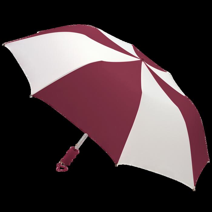 Burgundy/White Classic Umbrella