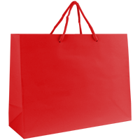 Red Medium Glossy Shopper Bag Thumb