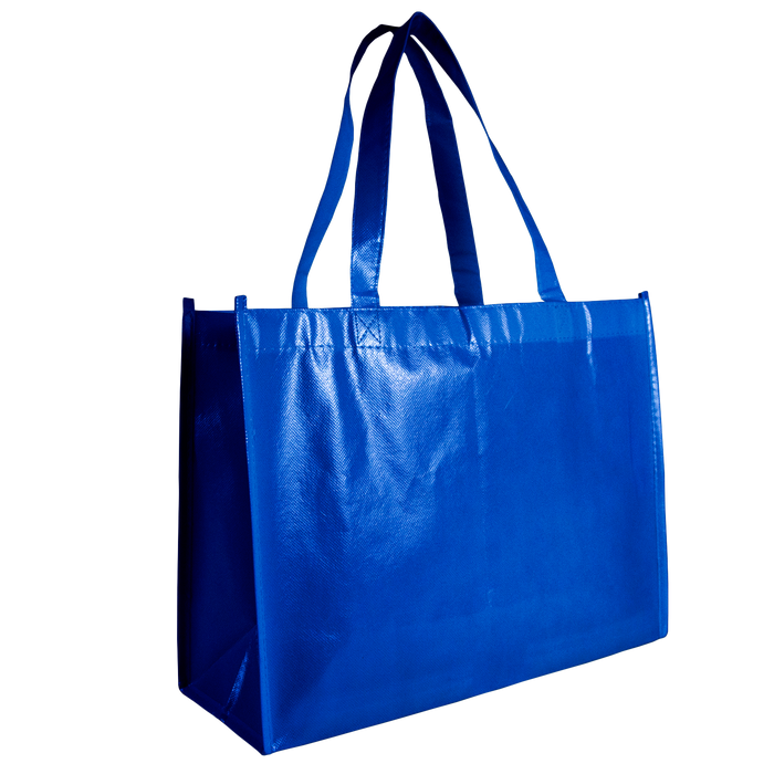 Royal Blue Laminated Convention Tote