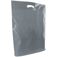 Gray Large Die Cut Plastic Bag Thumb