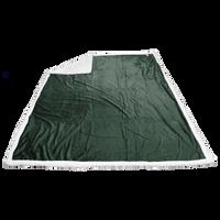Hunter Green Breckenridge Faux Lambswool Blanket Thumb