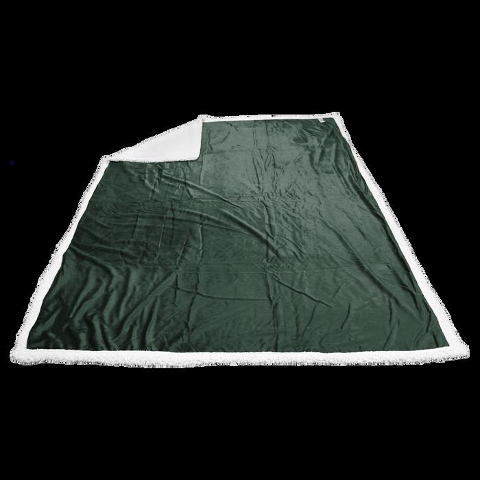 Hunter Green Breckenridge Faux Lambswool Blanket