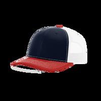 Navy/Red/White Richardson Trucker Snapback Hat Thumb
