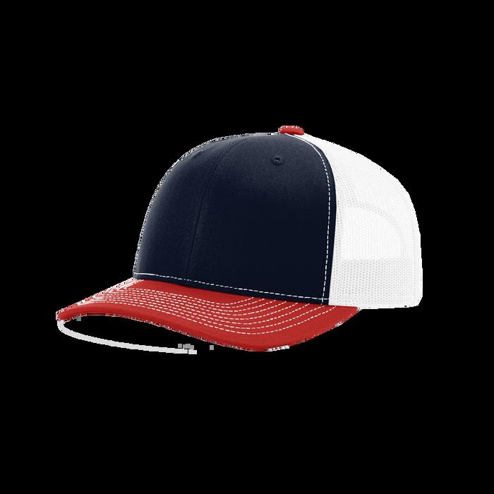 Navy/Red/White Richardson Trucker Snapback Hat