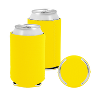 Yellow Premium Collapsible Neoprene Koozie Thumb